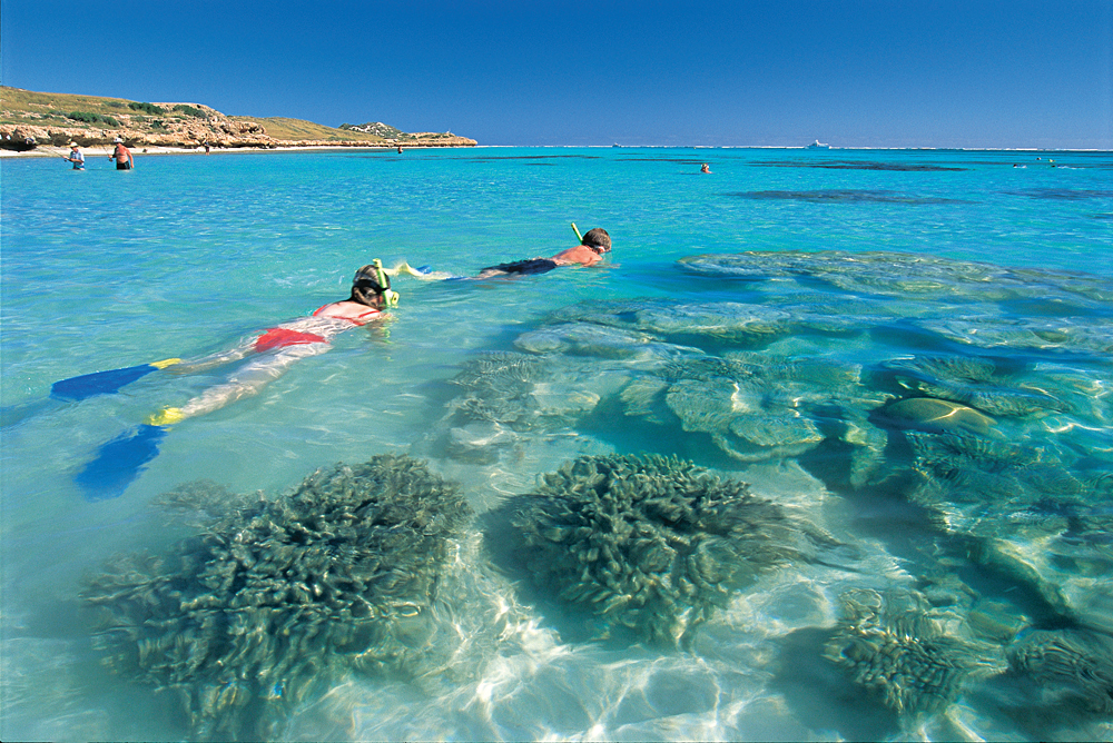 Snorkelling on Ningaloo Marine Park, near Coral Bay - Credit - Tourism Western Australia