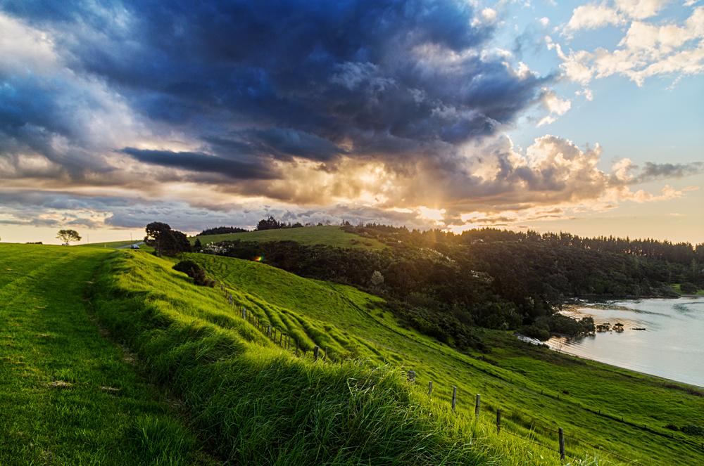 Sunrise Over Waitangi Treaty Grounds, Bay of Islands, New Zealand