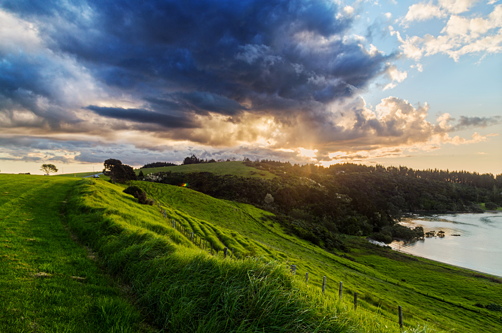 Sunrise Over Waitangi Treaty Grounds, Bay of Islands, New Zealand