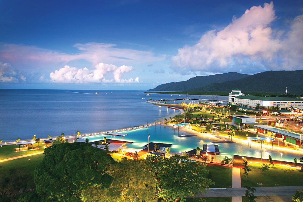 Cairns Esplanade at Night, Queensland, Australia