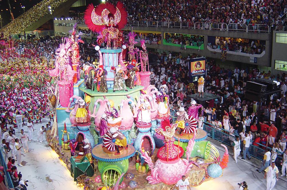 Carnival Float in Sambadrome, Rio de Janeiro, Brazil