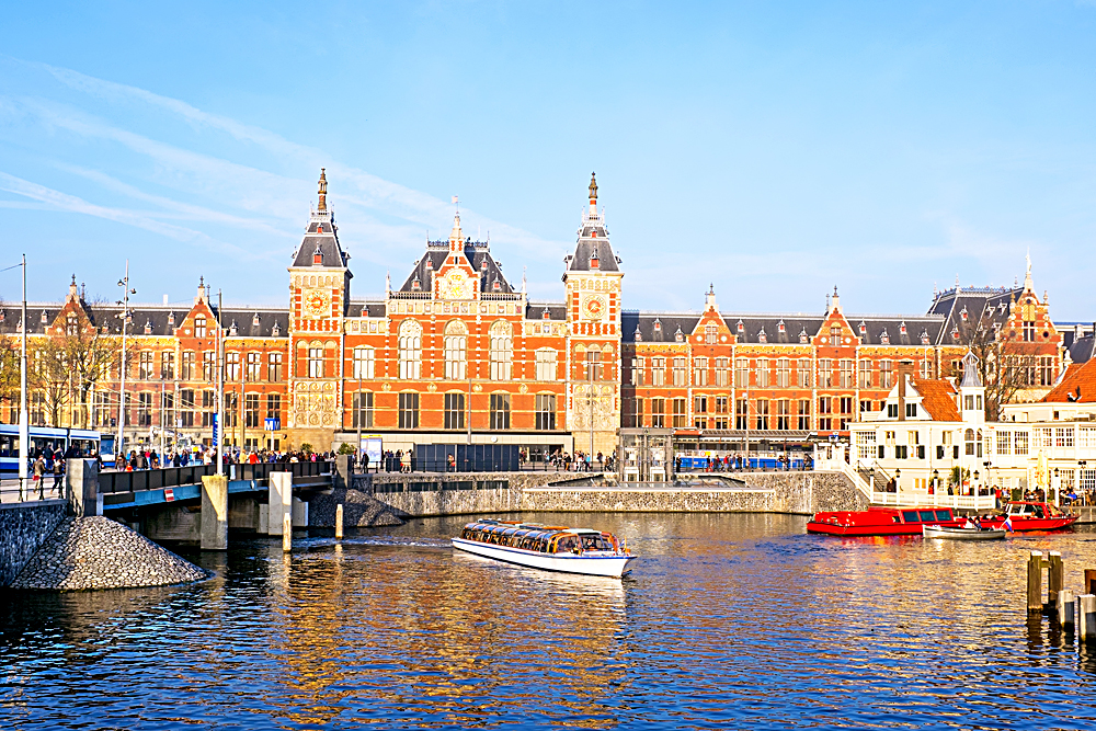 Central Station in Amsterdam, Netherlands