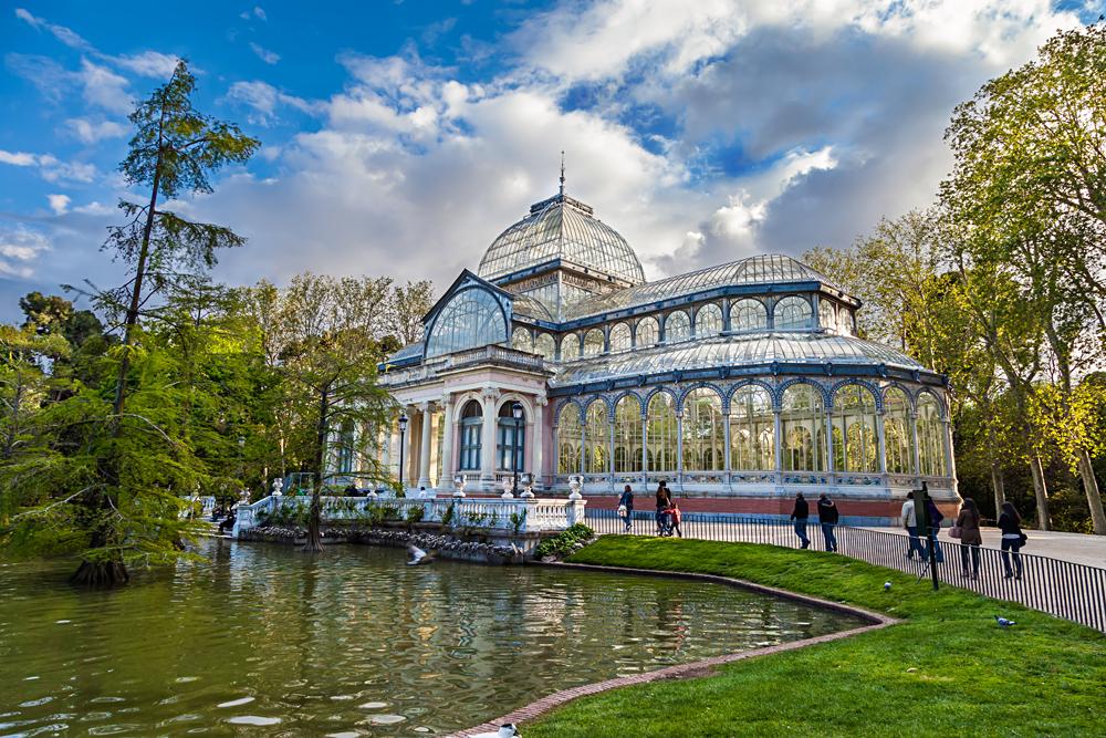 Crystal Palace in Retiro Park,Madrid, Spain