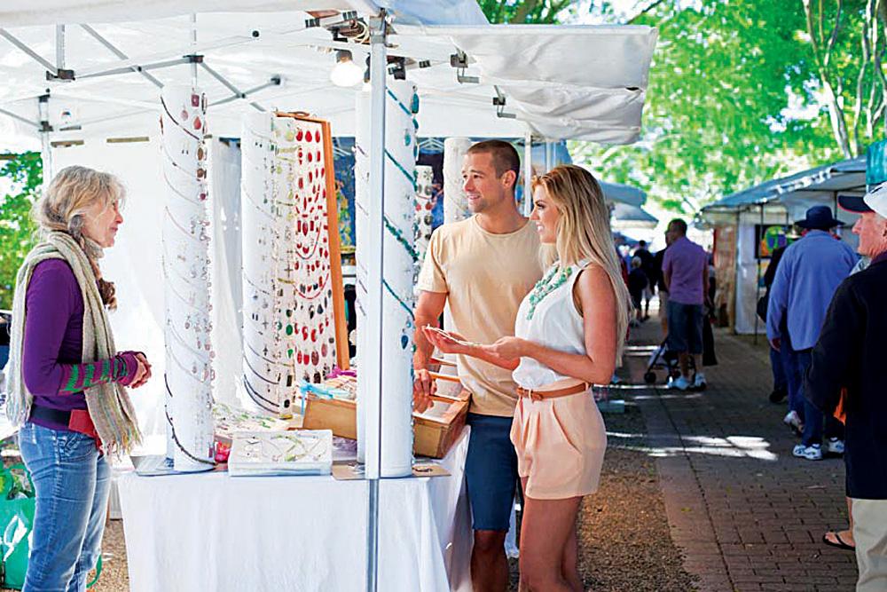 Eumundi Market Stall, Sunshine Coast, Queensland, Australia