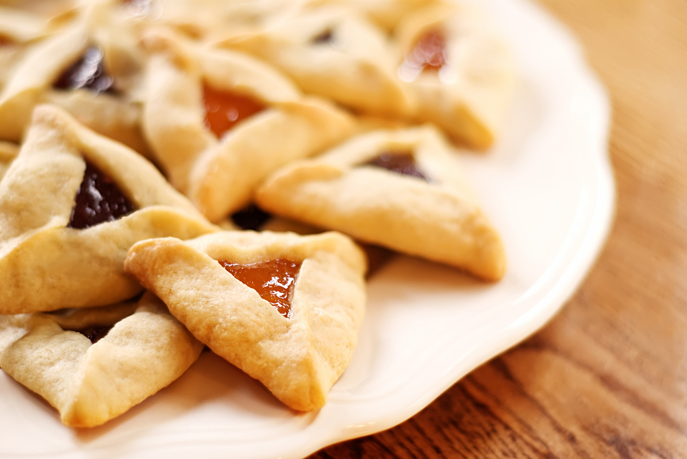 Hamantaschen or Hamantashen Cookies for Jewish Festival of Purim