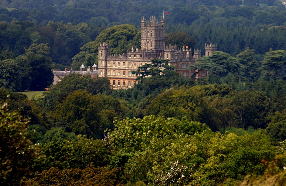 Highclere Castle, Situated in a Forrest of Trees, Hampshire, England, UK