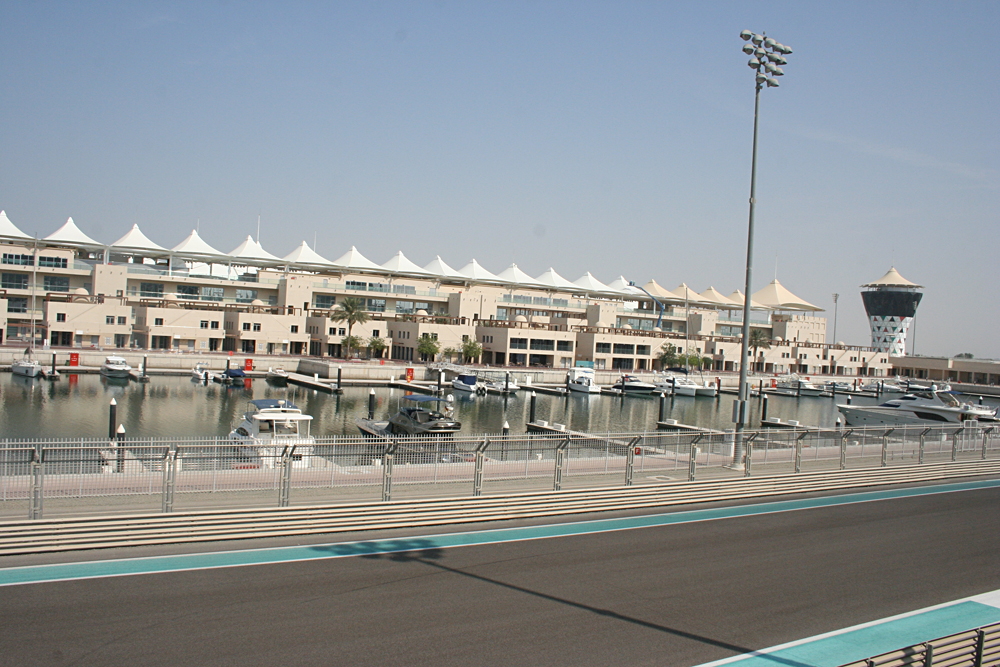 Kirsty Perring - View of the Racetrack from the Yas Viceroy Hotel, Abu Dhabi, United Arab Emirates (UAE)