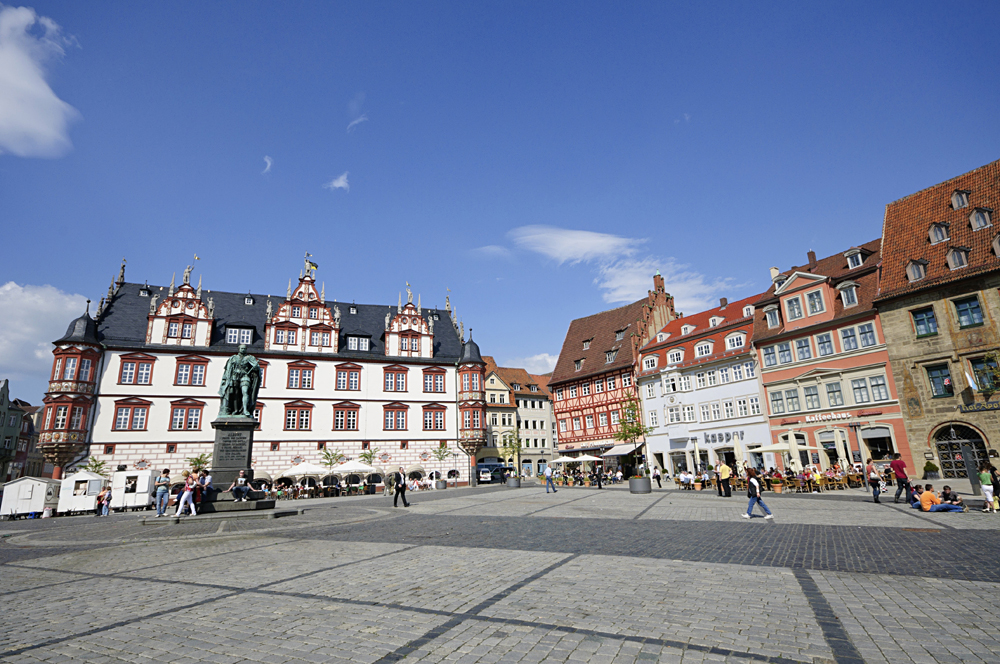 Market Square in Coburg, Bavaria, Germany