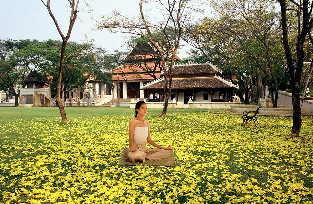 Meditation at Dhara Dhevi Chiang Mai Resort, Thailand
