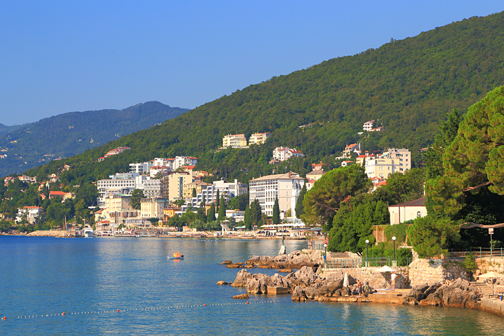 Opatija, a Small Resort on the Adriatic Sea Coast, Croatia