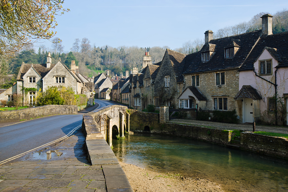 Picturesque Cotswold Village of Castle Combe, England, UK