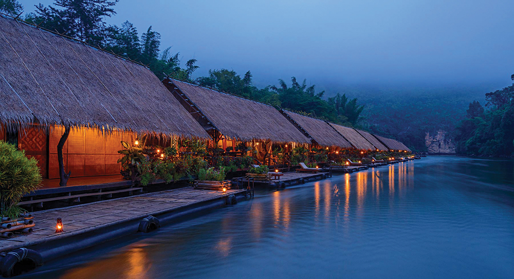 River Kwai Jungle Rafts, near Bangkok, Thailand