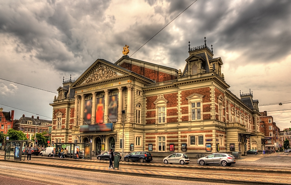 Royal Concertgebouw Concert Hall in Amsterdam, Netherdlands