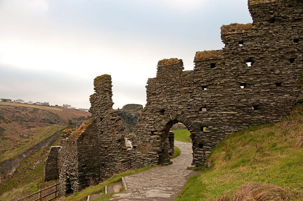 Ruins of Tintagel Castle, Cornwall, England, UK