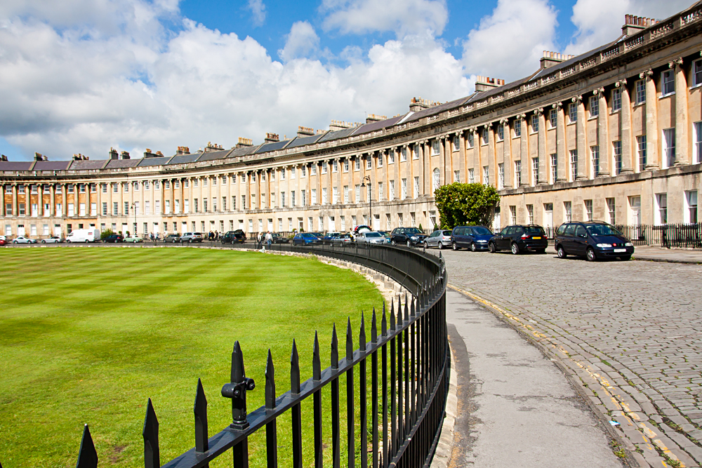The famous Royal Crescent at Bath, Somerset, England, UK
