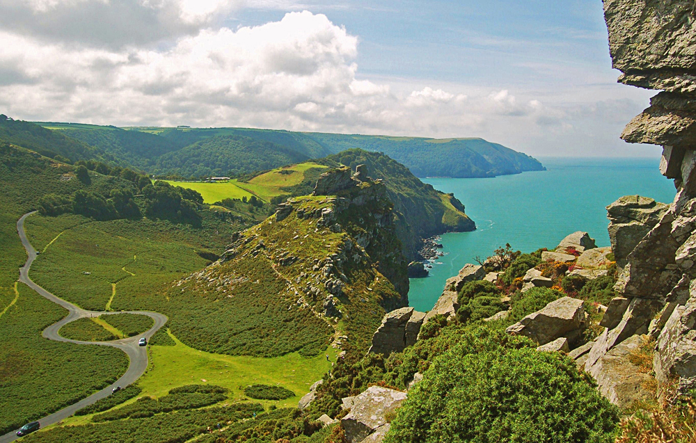 Valley of the rocks, Lynton, Devon, England, UK