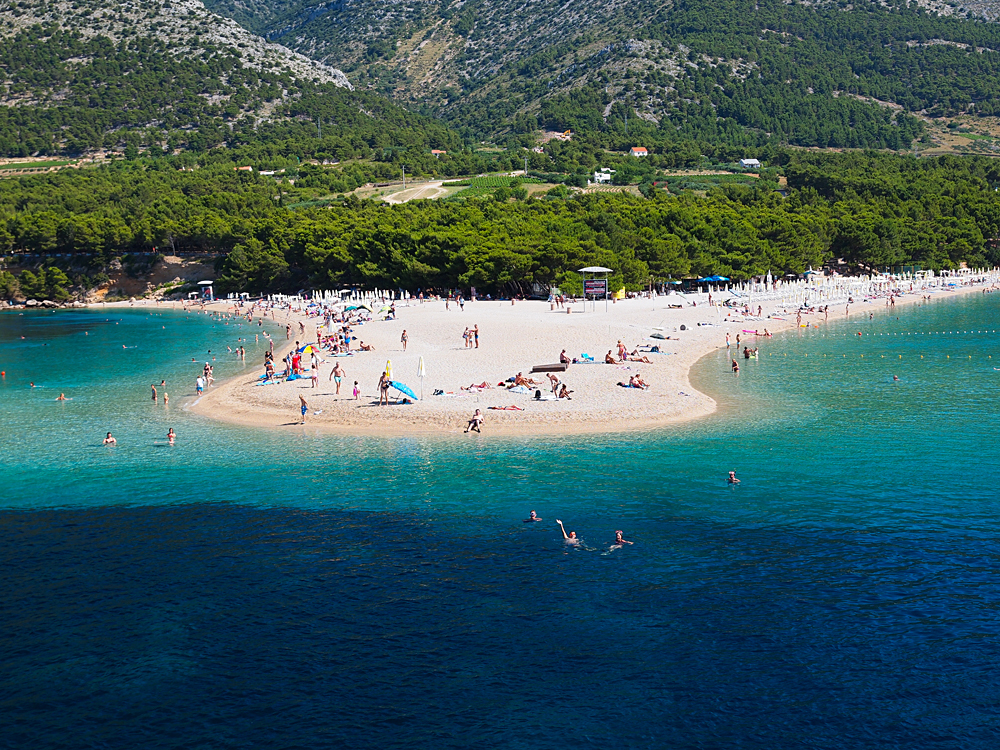 Beautiful Beaches in Bol, Croatia
