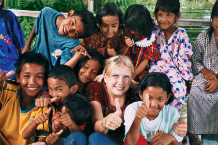 Group of Kids in Asia