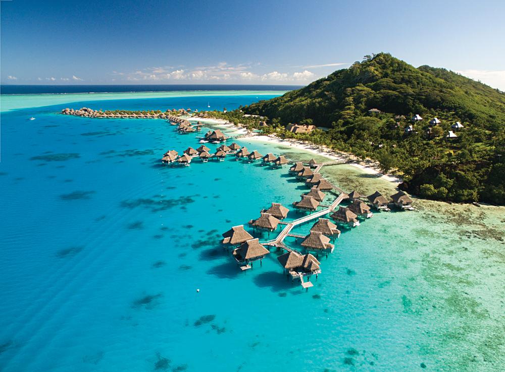 Conrad Bora Bora - Aerial View, Tahiti (French Polynesia)