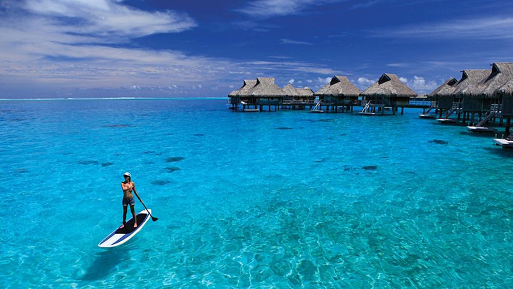 Conrad Bora Bora - Paddle Boarding, Tahiti (French Polynesia)