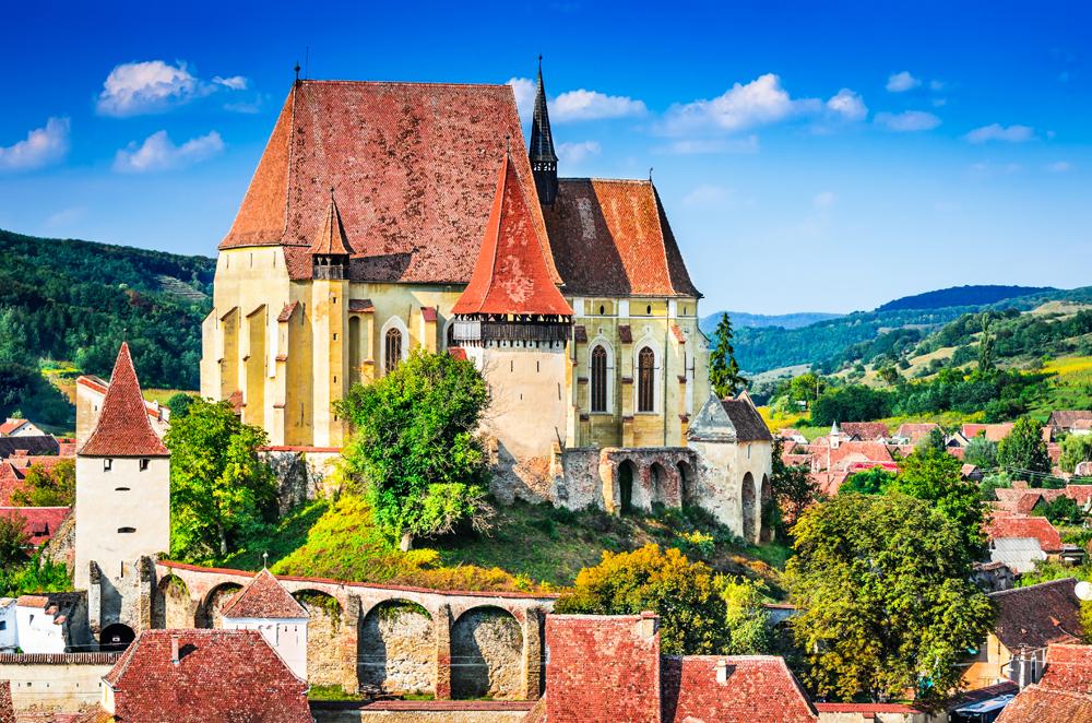Fortified Church in the Saxon Village of Biertan, Transylvania, Romania