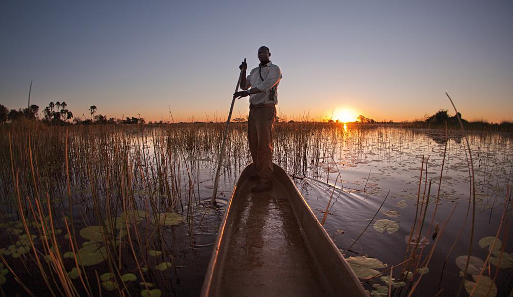 Mokoro in the Okavango Delta, Botswana
