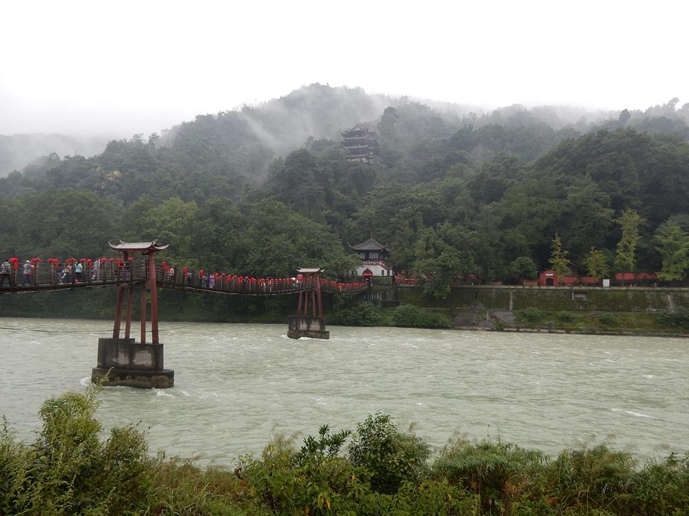 Nicky Cox - Anlan Planked Chain Bridge in Dujiangyan, near Chengdu, Sichuan Province, China