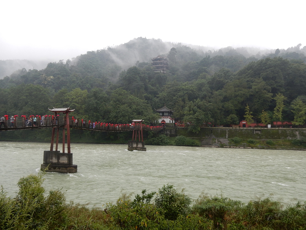 Nicky Cox - Anlan Planked Chain Bridge in Dujiangyan, near Chengdu, Sichuan Province, China