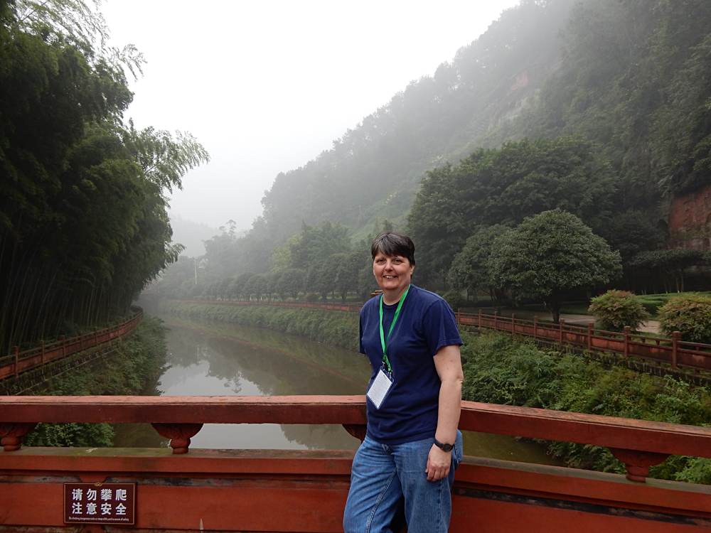 Nicky Cox - Nicky at Leshan Oriental Buddha Park, Sichuan Province, China