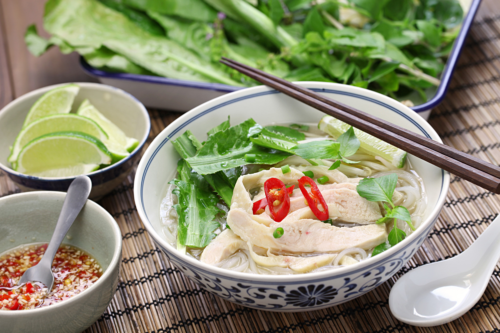 Pho Ga, Vietnamese chicken rice noodle soup, Vietnam
