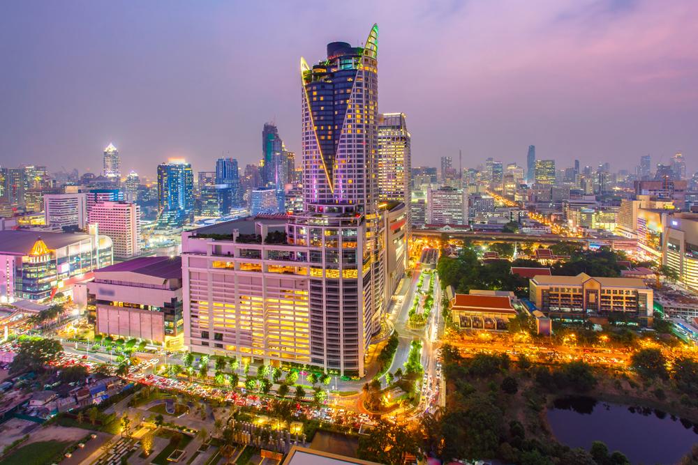 Siam Paragon Shopping Mall at Night, Bangkok, Thailand