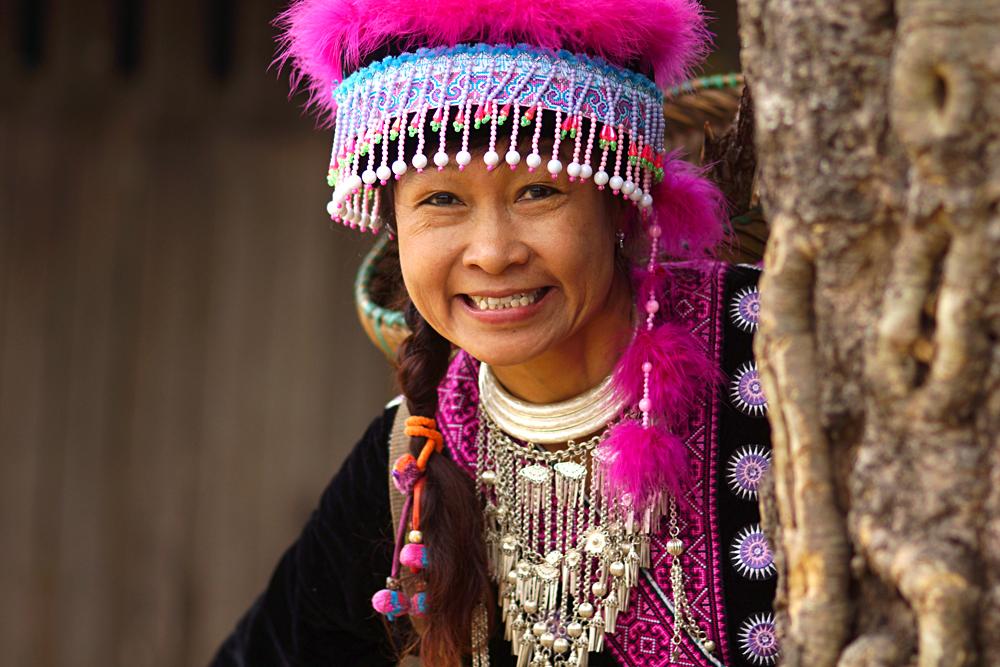 Smiling Hmong Hilltribe Woman, Sapa, Vietnam