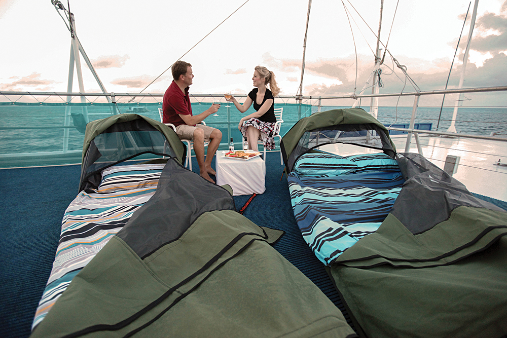 Stay Overnight on a Swag in the Great Barrier Reef, Queensland, Australia