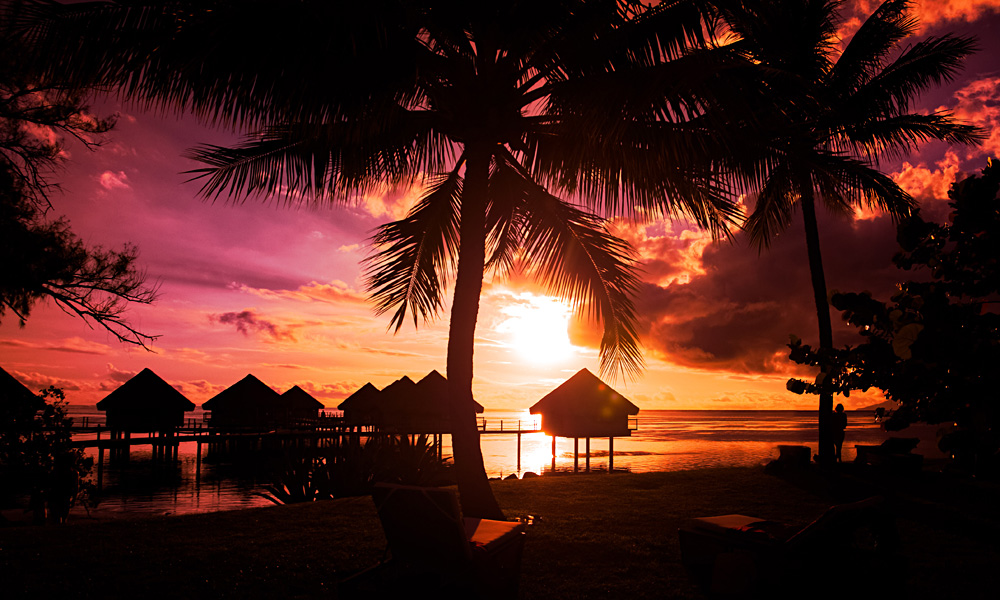 Tahiti Sunset, French Polynesia