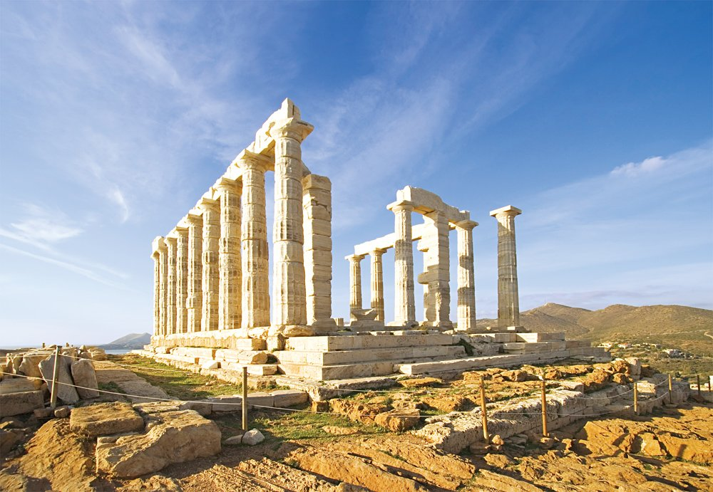 Temple of Poseidon at Cape Sounion, Athens, Greece