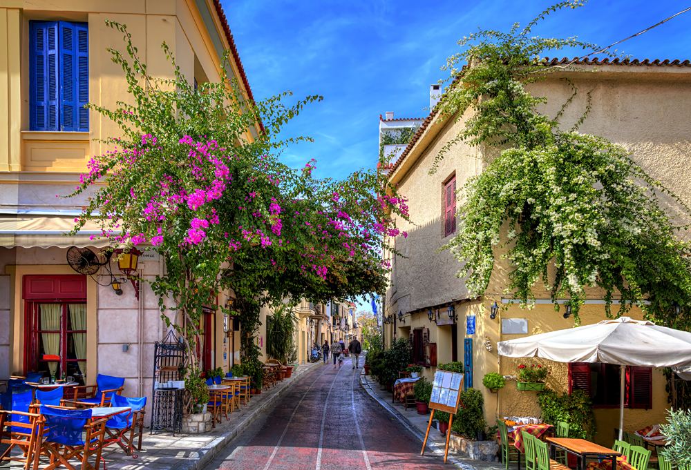 The Plaka Neighbourhood, Athens, Greece