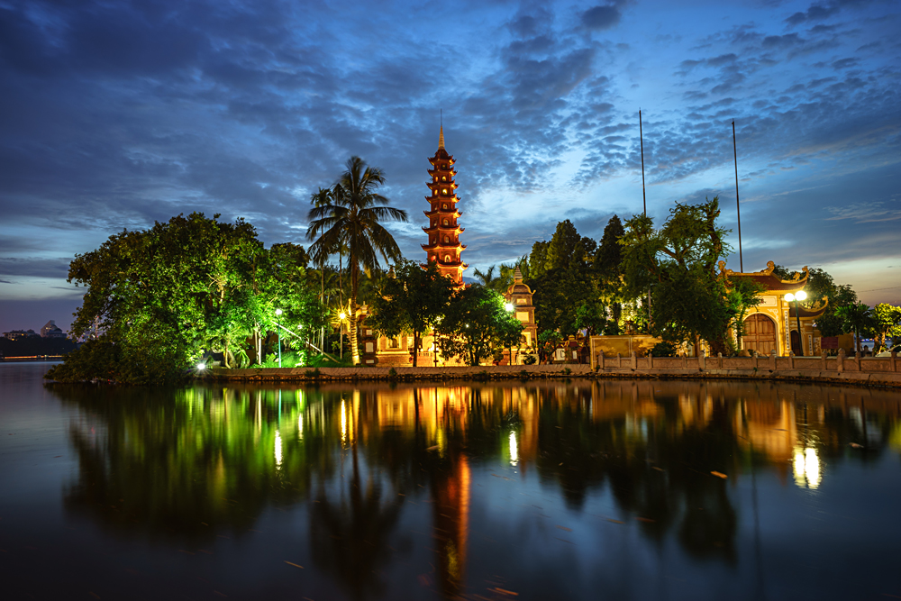 Tran Quoc Pagoda and Temple in Hanoi, Vietnam