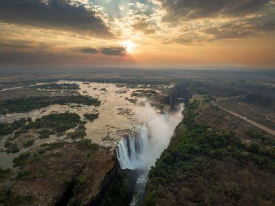 Victoria Falls in the Morning Light, Zimbabwe Zambia