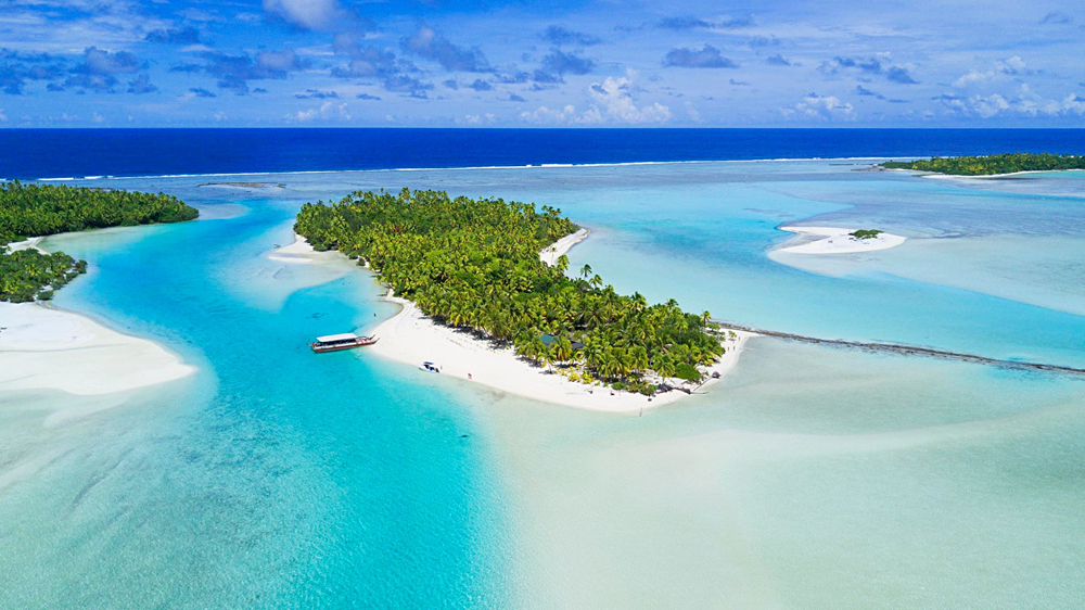 Alejandro - Aerial View of One Foot Island, Cook Islands