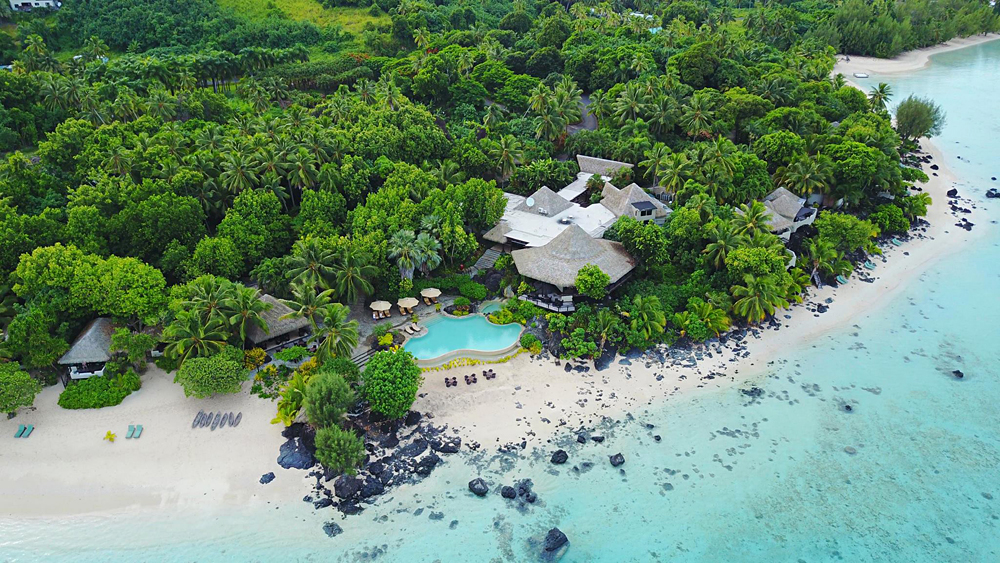 Alejandro - Aerial View of Pacific Resort, Aitutaki, Cook Islands