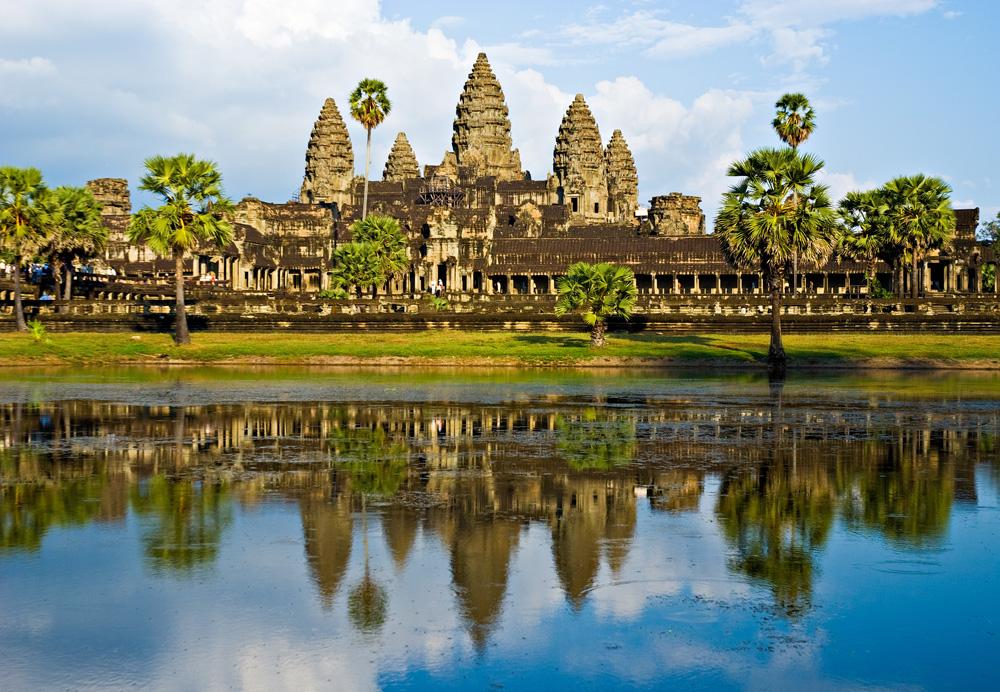 Angkor Wat with Reflection, Siem Reap, Cambodia