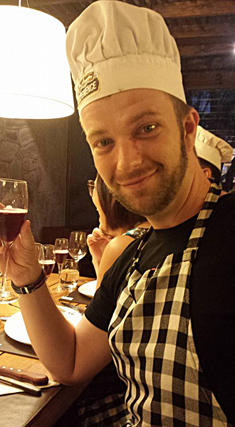 Chris Baines - The Argentine Experience - Enjoying a Glass of Malbec, Buenos Aires, Argentina