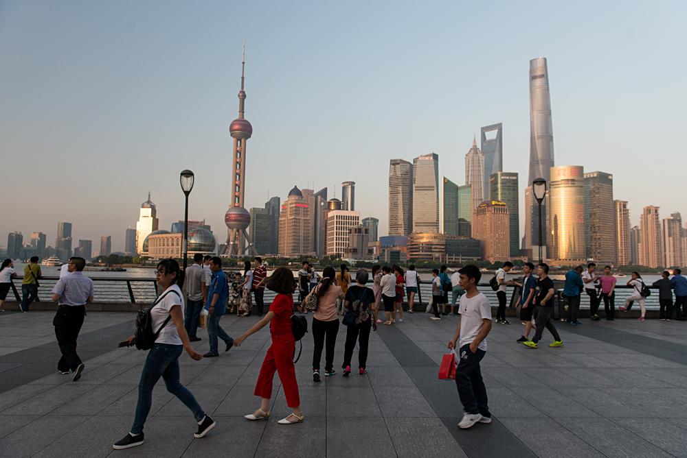 Flash Parker - Admiring the Shanghai Skyline from the Bund, Shanghai, China_43882