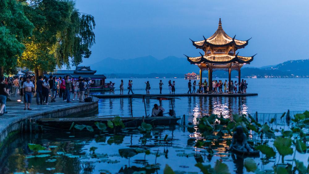 Flash Parker - Pagoda at West Lake at Night, Hangzhou, China_42277