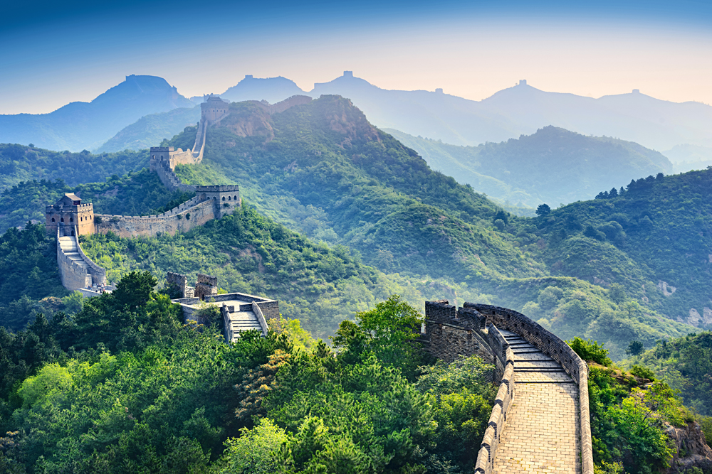 Great Wall of China in Badaling, Beijing, China
