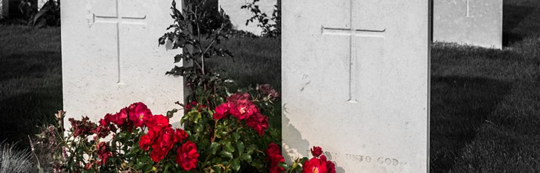 Headstones of Unknown Soldiers of World War One at Tyne Cot Cemetery, Passchendaele, Belgium