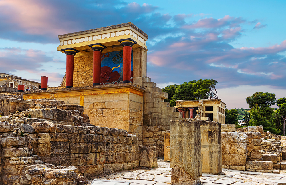 Knossos Palace on the Greek Island of Crete, Greece