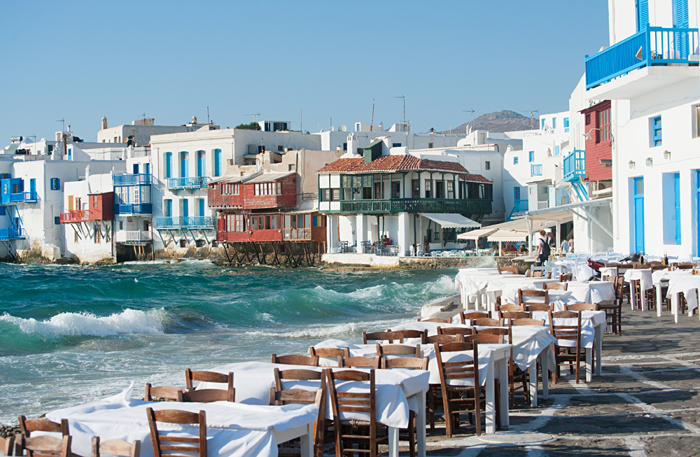 Little Venice in Mykonos, Greece