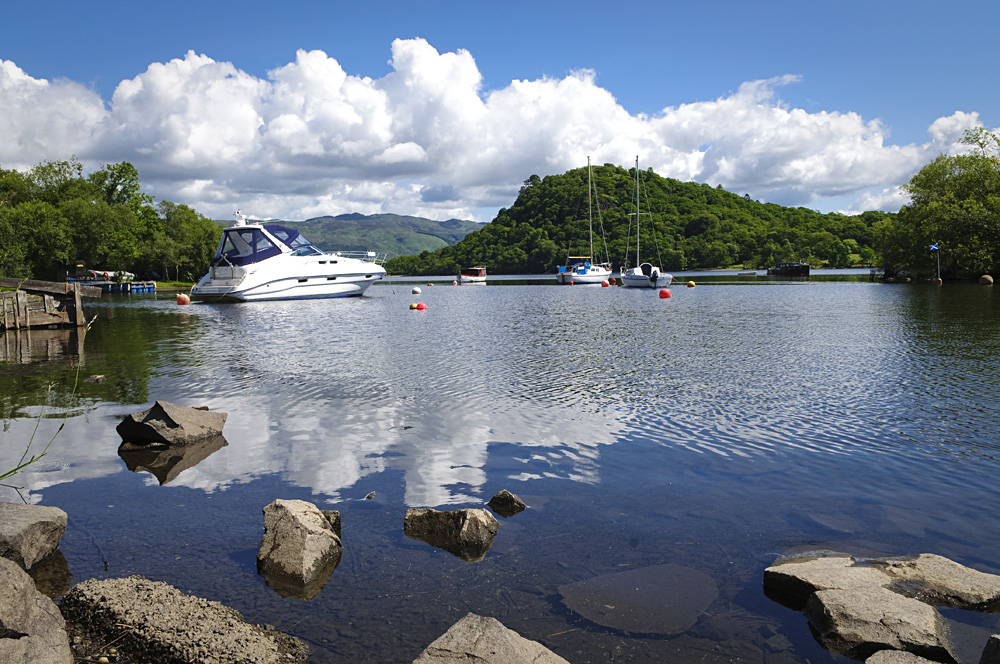 Loch Lomond Marina in Luss, Scotland, UK (United Kingdom)