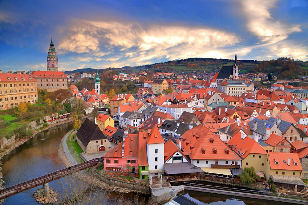 Medieval town of Cesky Krumlov, Czech Republic